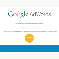 Сертификаты для google adwords сколько стоит настроить рекламу в яндекс директ
